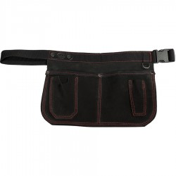 Black Suede Leather Gardeners Apron - C-GA-BLACK