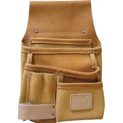 Seven Pocket Tan Leather Pouch - C-1603-TAN
