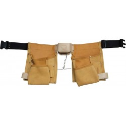 Deluxe Tan Leather Tool Pouch - C-1605-TAN