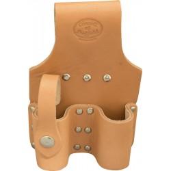 Tan Leather Double Adjustable Spanner Holder Or Shifter Frog - C-SB-SC5DBL
