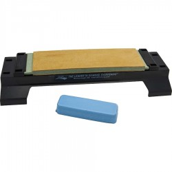 Leather Sharpening Strop with Polishing Compound and DMT® Base