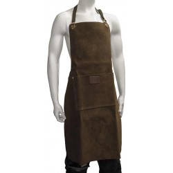 "Premium Brown 36"" Leather Apron - C-AP2-BR"