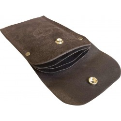 Premium Brown Leather Scraper Wallet - C-LSW-BR